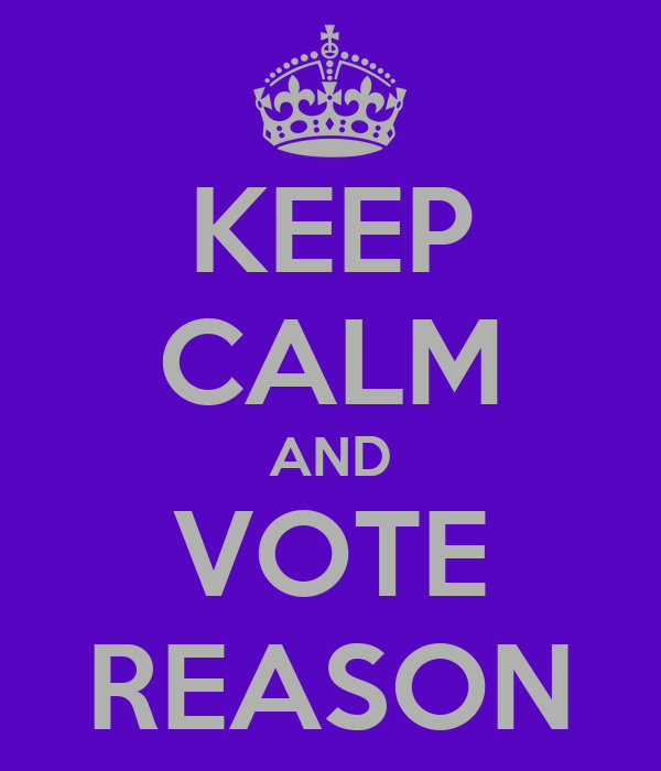 KEEP CALM AND VOTE REASON