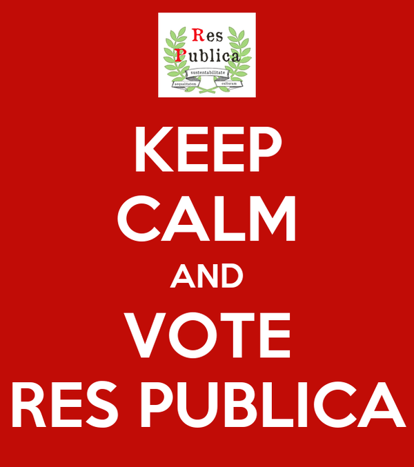 KEEP CALM AND VOTE RES PUBLICA