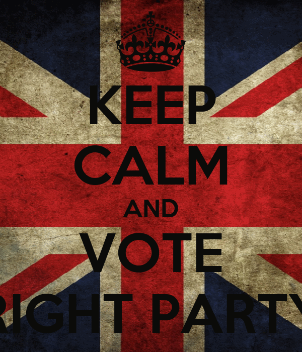 KEEP CALM AND VOTE RIGHT PARTY