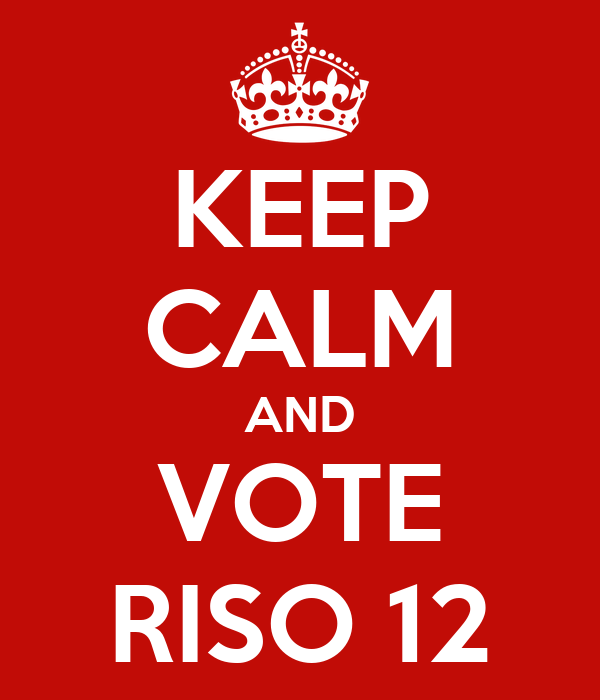 KEEP CALM AND VOTE RISO 12
