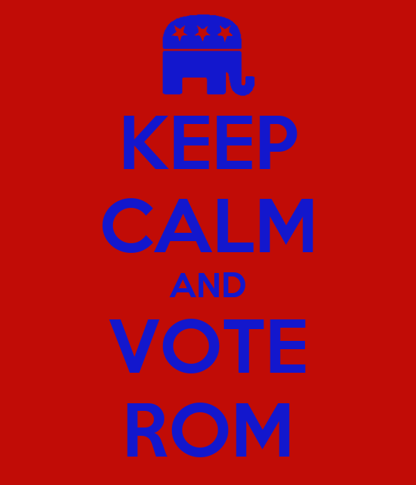 KEEP CALM AND VOTE ROM