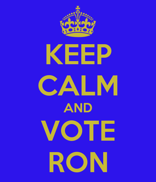 KEEP CALM AND VOTE RON
