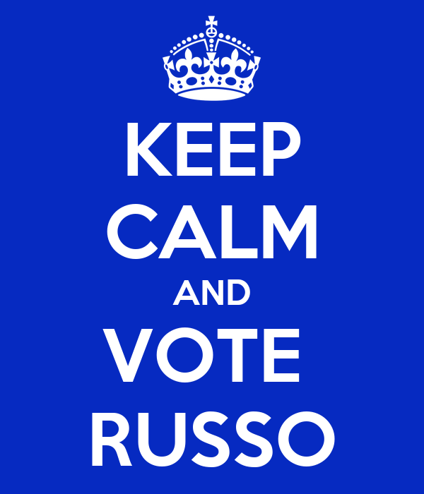 KEEP CALM AND VOTE  RUSSO