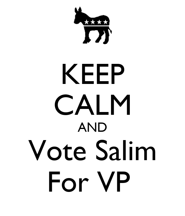 KEEP CALM AND Vote Salim For VP
