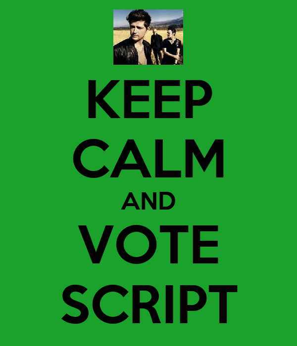 KEEP CALM AND VOTE SCRIPT