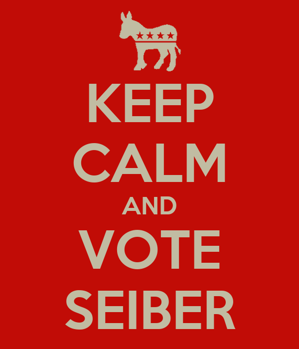 KEEP CALM AND VOTE SEIBER