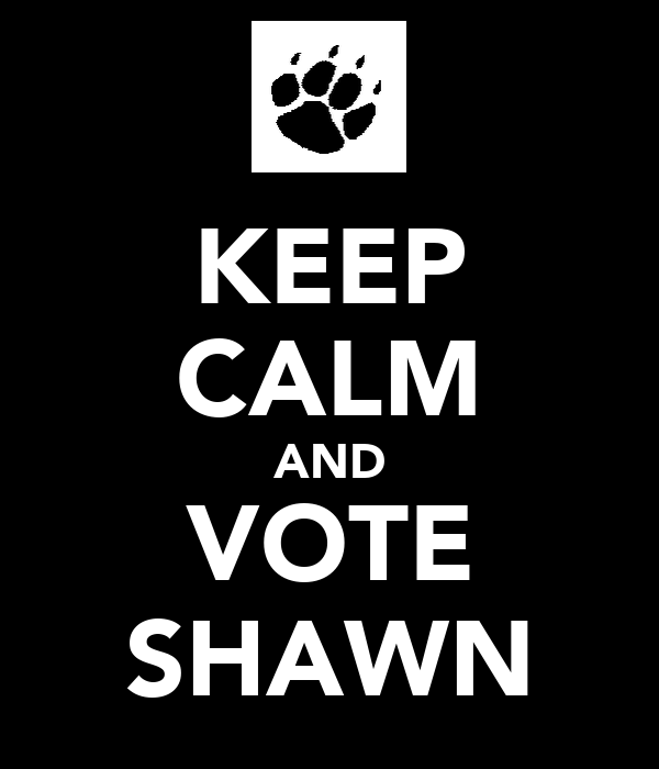 KEEP CALM AND VOTE SHAWN