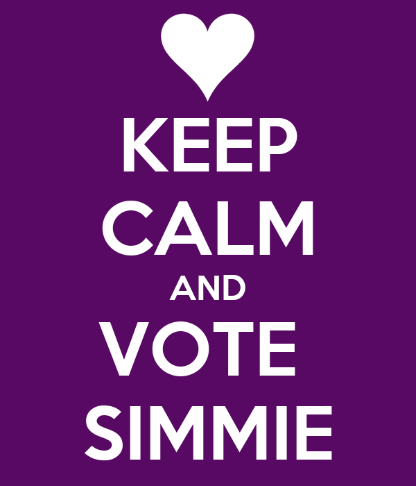 KEEP CALM AND VOTE  SIMMIE