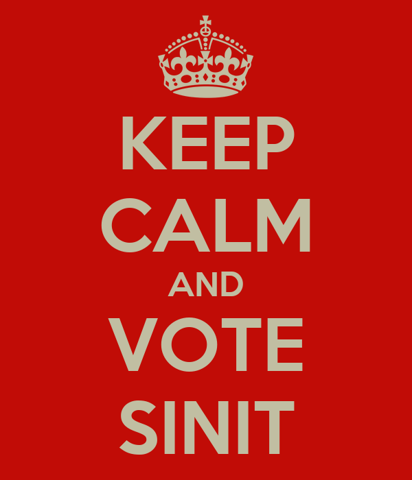 KEEP CALM AND VOTE SINIT