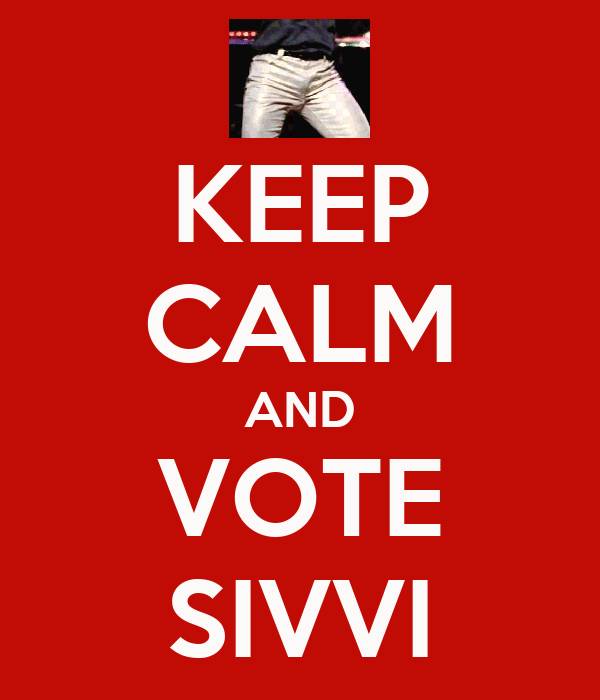 KEEP CALM AND VOTE SIVVI