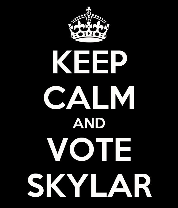 KEEP CALM AND VOTE SKYLAR