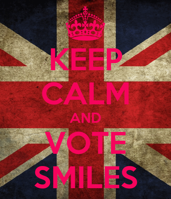 KEEP CALM AND VOTE SMILES