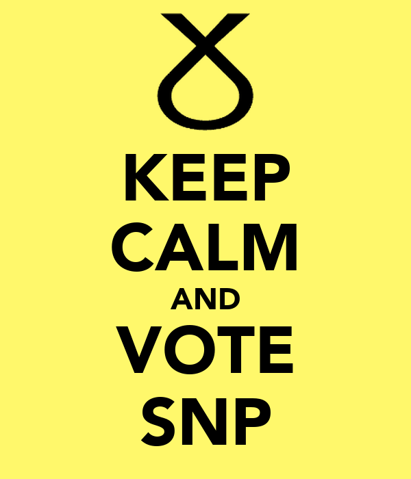 KEEP CALM AND VOTE SNP