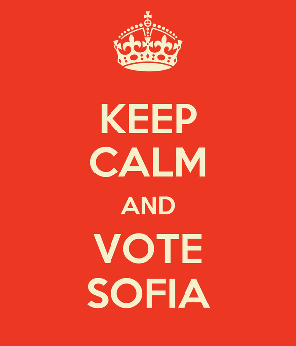 KEEP CALM AND VOTE SOFIA