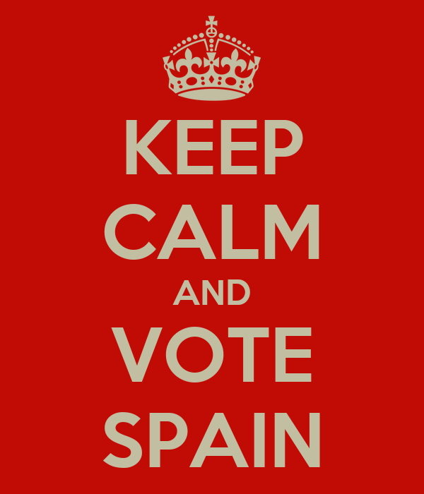 KEEP CALM AND VOTE SPAIN
