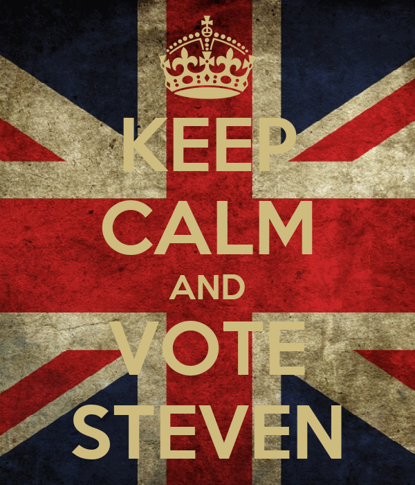 KEEP CALM AND VOTE STEVEN