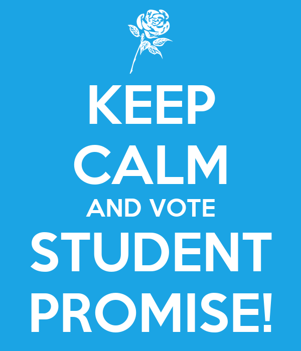 KEEP CALM AND VOTE STUDENT PROMISE!