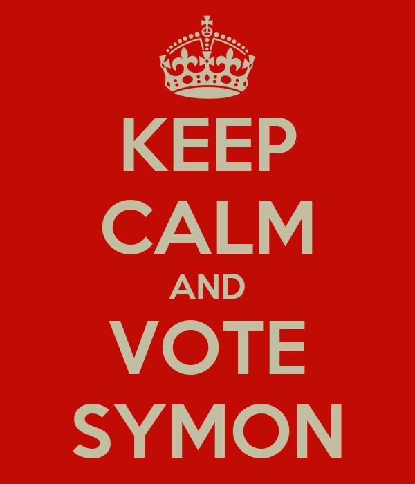 KEEP CALM AND VOTE SYMON