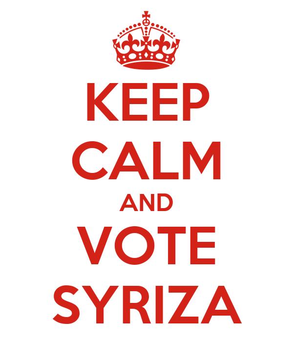 KEEP CALM AND VOTE SYRIZA