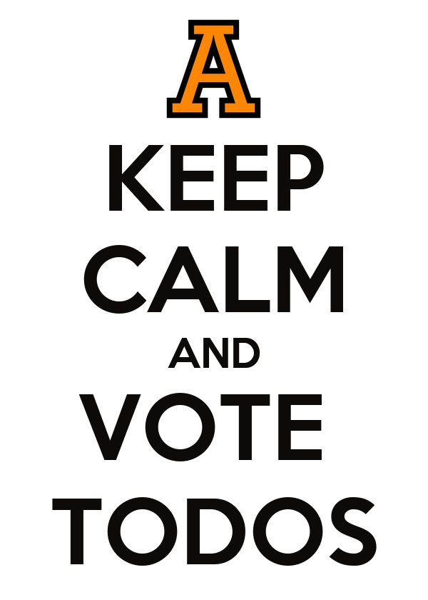 KEEP CALM AND VOTE  TODOS