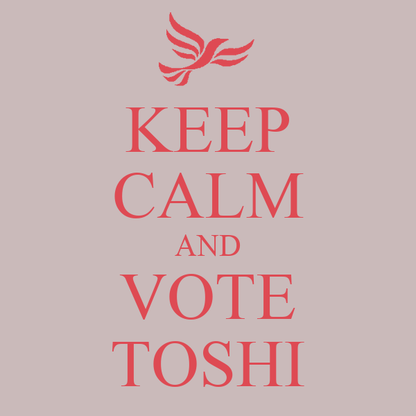 KEEP CALM AND VOTE TOSHI