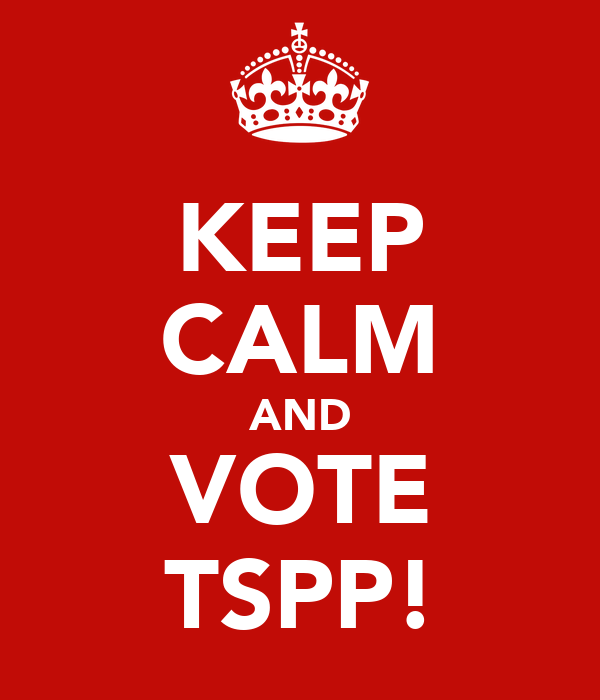 KEEP CALM AND VOTE TSPP!