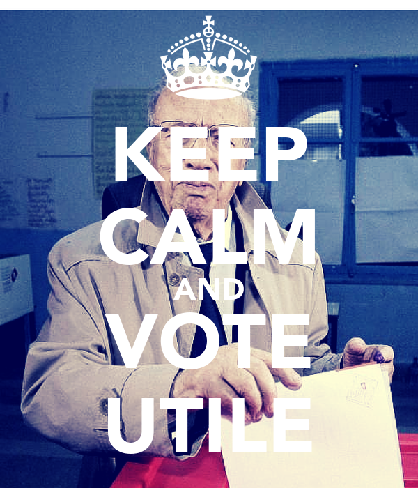 KEEP CALM AND VOTE UTILE