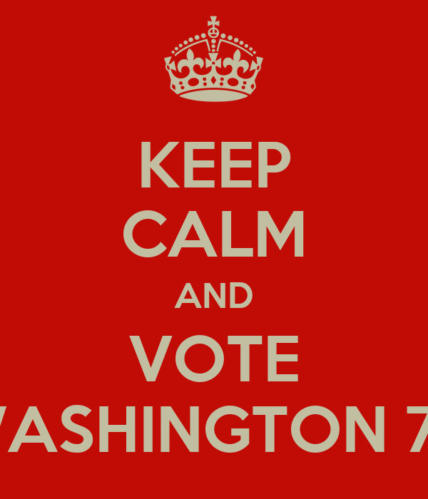KEEP CALM AND VOTE WASHINGTON 70