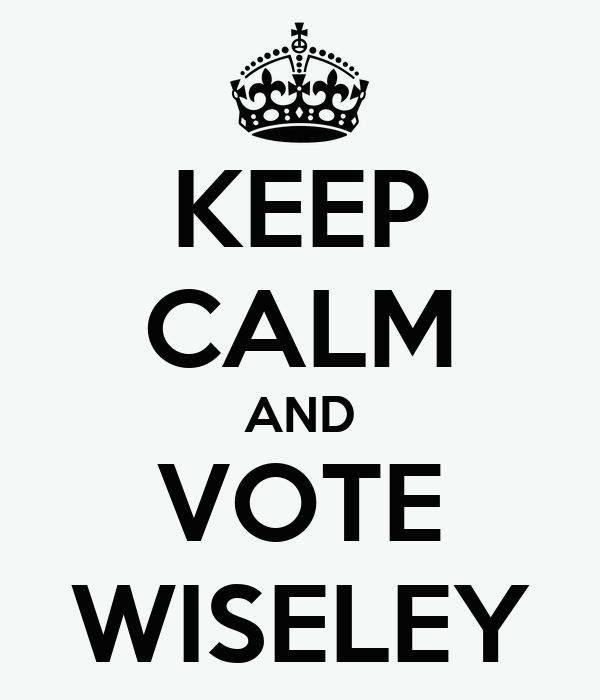 KEEP CALM AND VOTE WISELEY