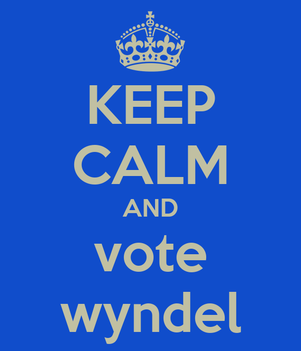 KEEP CALM AND vote wyndel