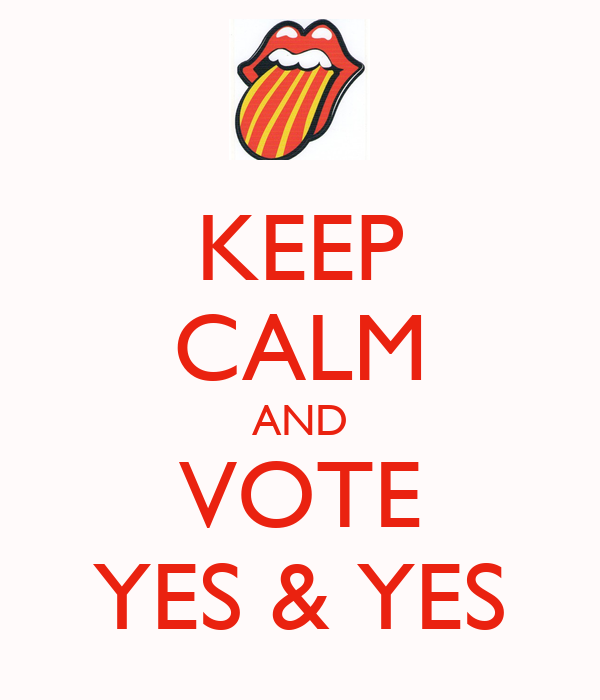 KEEP CALM AND VOTE YES & YES