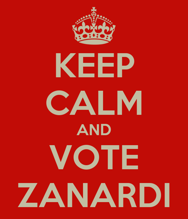 KEEP CALM AND VOTE ZANARDI