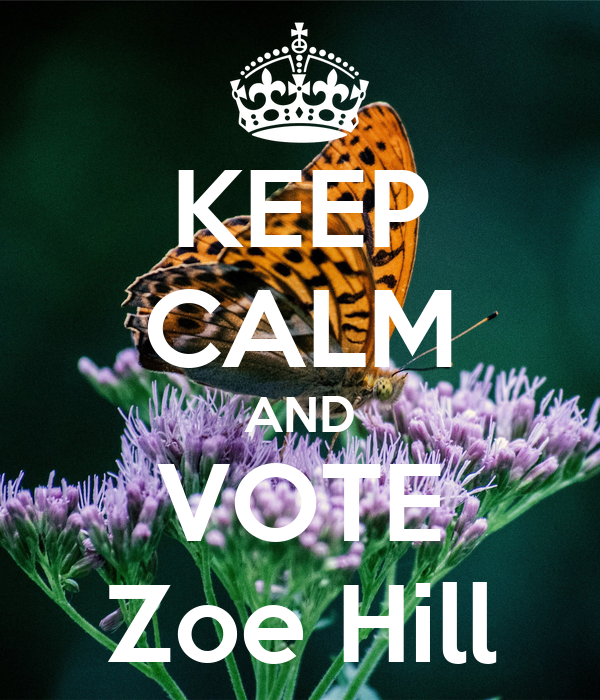 KEEP CALM AND VOTE Zoe Hill