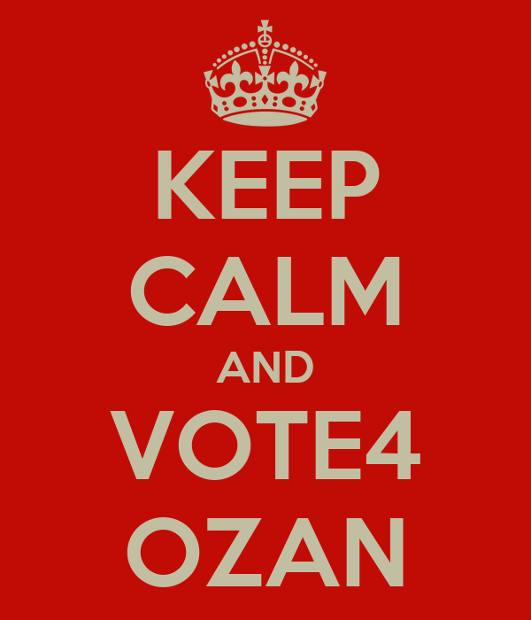 KEEP CALM AND VOTE4 OZAN