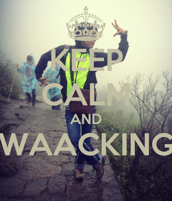 KEEP CALM AND WAACKING