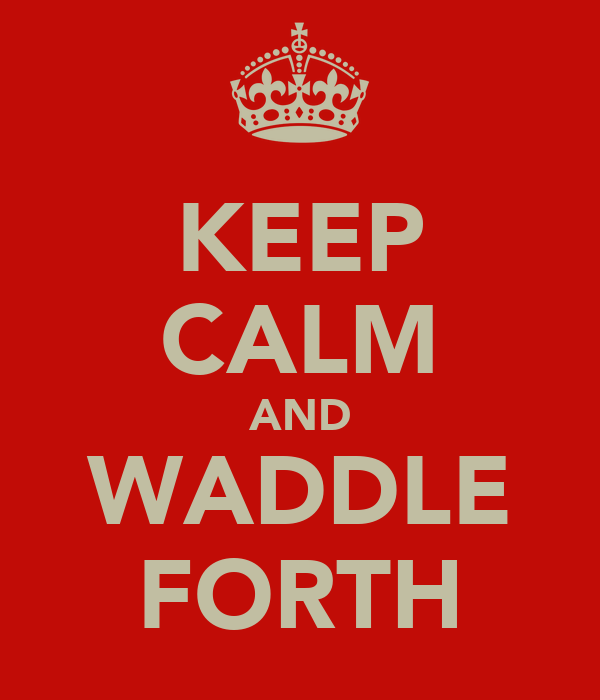KEEP CALM AND WADDLE FORTH