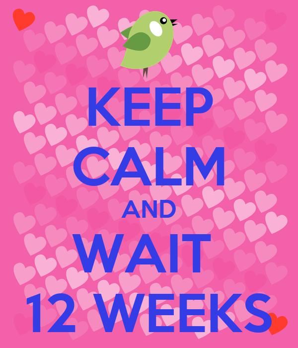 KEEP CALM AND WAIT  12 WEEKS