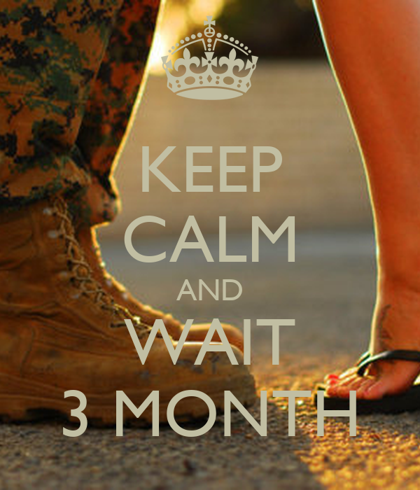 KEEP CALM AND WAIT 3 MONTH