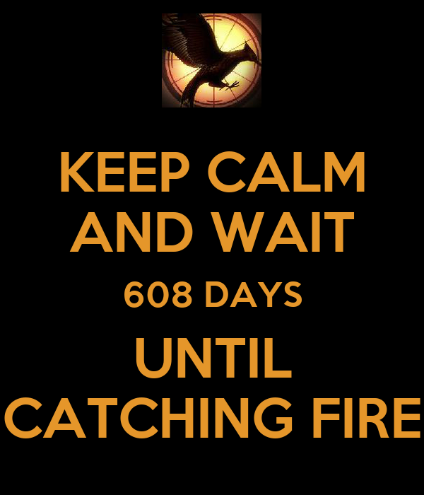 KEEP CALM AND WAIT 608 DAYS UNTIL CATCHING FIRE