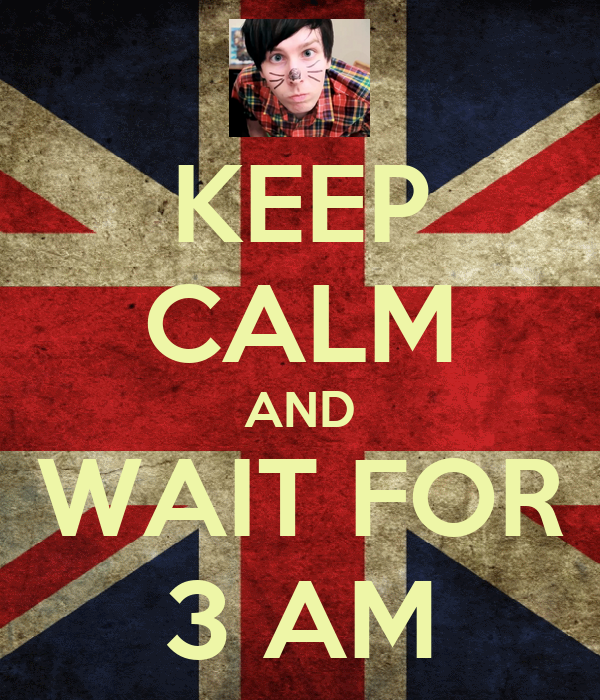 KEEP CALM AND WAIT FOR 3 AM