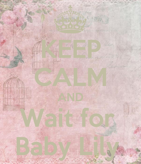 KEEP CALM AND Wait for  Baby Lily