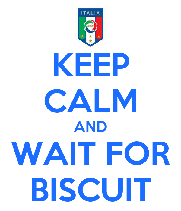 KEEP CALM AND WAIT FOR BISCUIT