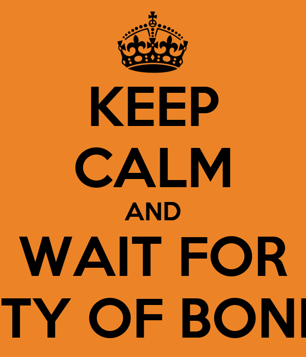 KEEP CALM AND WAIT FOR CITY OF BONES