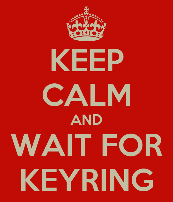 KEEP CALM AND WAIT FOR KEYRING