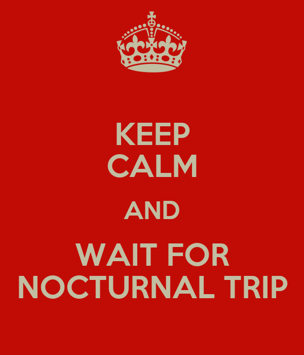 KEEP CALM AND WAIT FOR NOCTURNAL TRIP