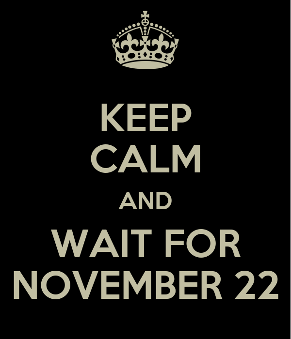 KEEP CALM AND WAIT FOR NOVEMBER 22