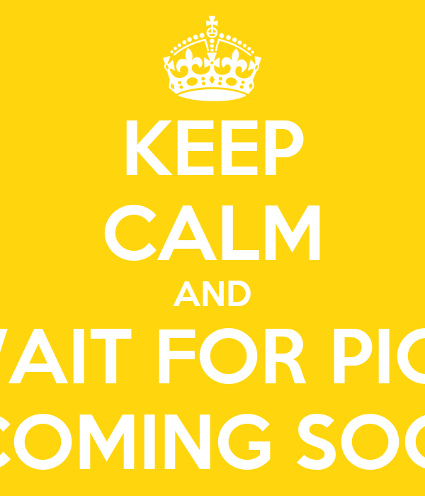 KEEP CALM AND WAIT FOR PICS ...COMING SOON