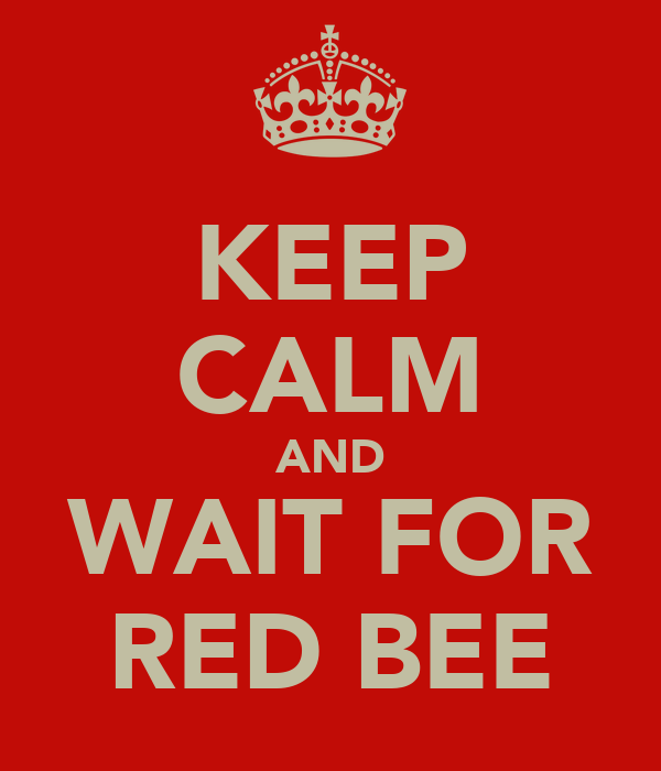 KEEP CALM AND WAIT FOR RED BEE