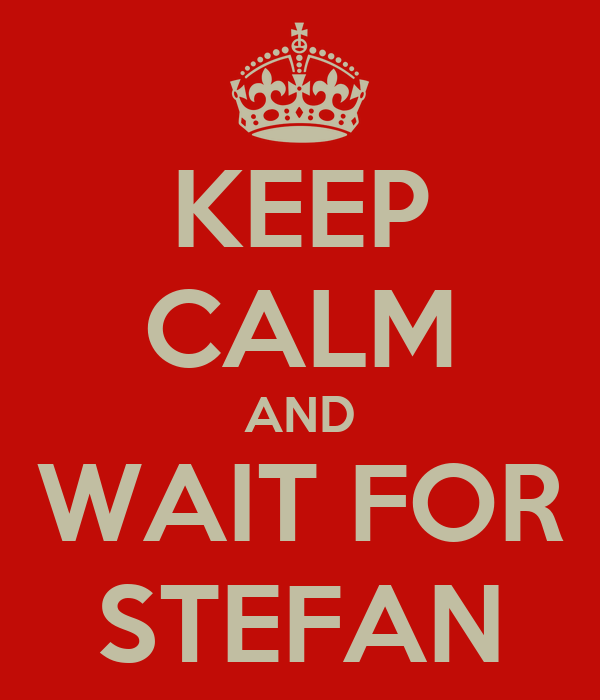 KEEP CALM AND WAIT FOR STEFAN