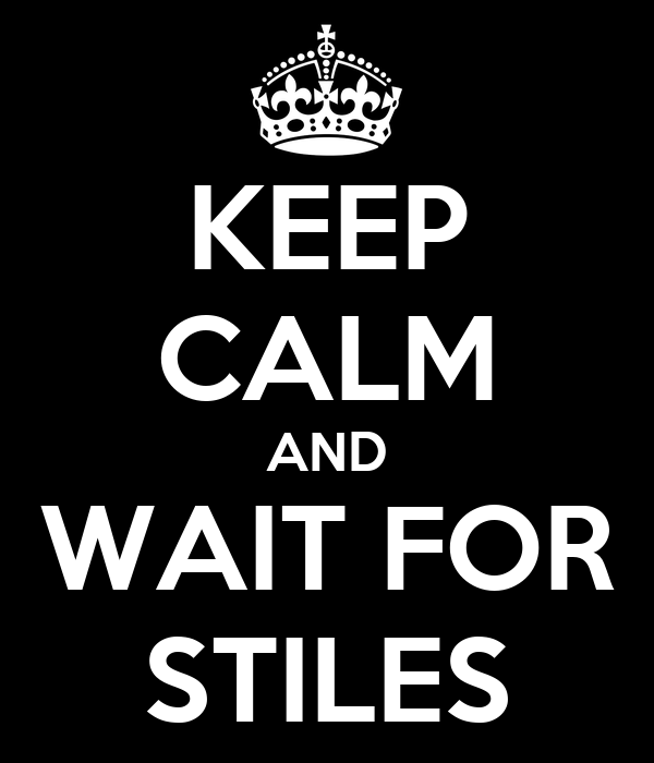 KEEP CALM AND WAIT FOR STILES